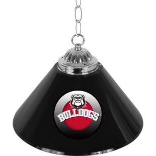 Trademark Global University of Georgia Single Shade Bar 1-Light Pool Table Lights Pendant