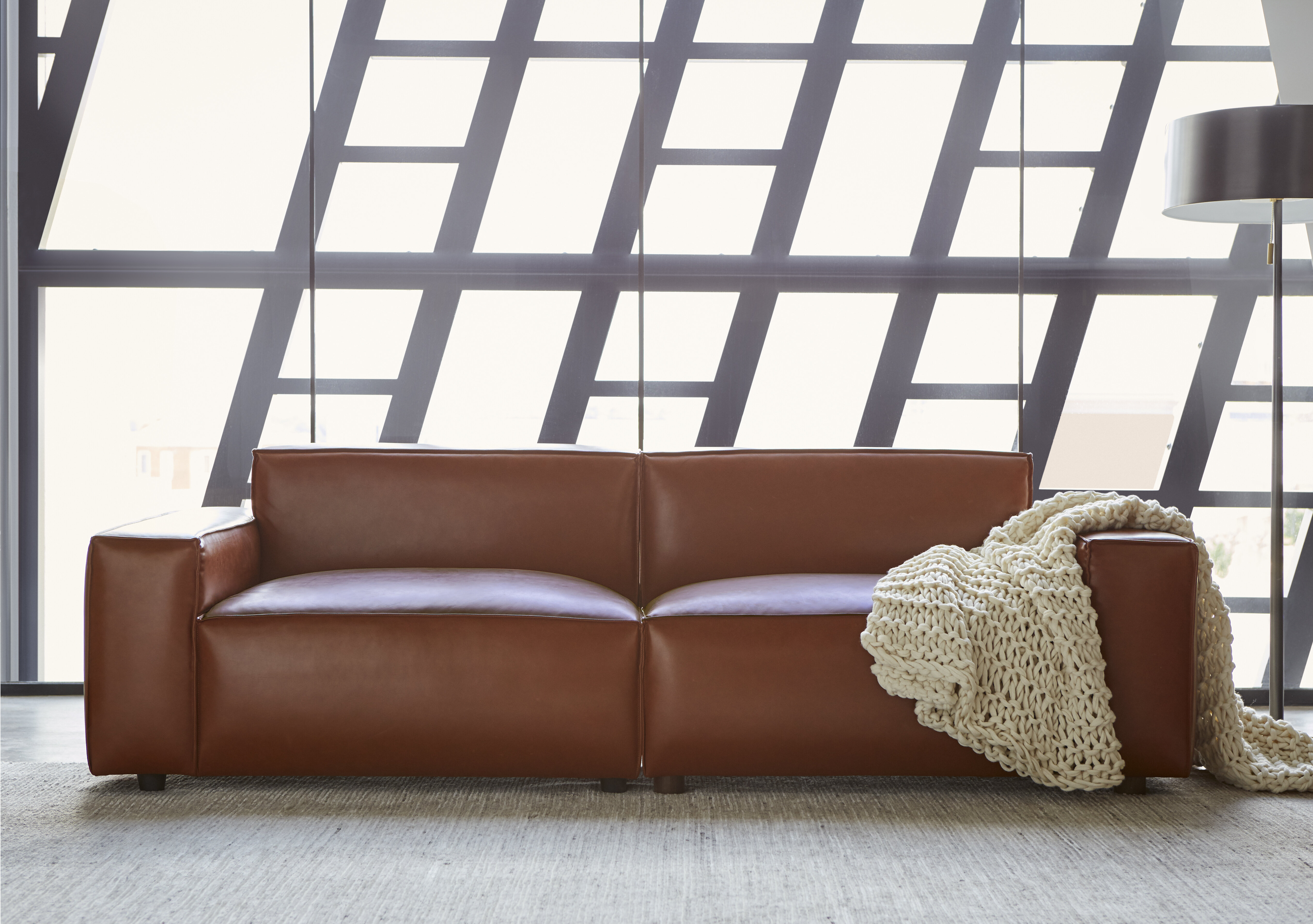 Bobby Berk Upholstered Olafur 2 Piece Modular Sofa Sectional By A.R.T.  Furniture in , Brown