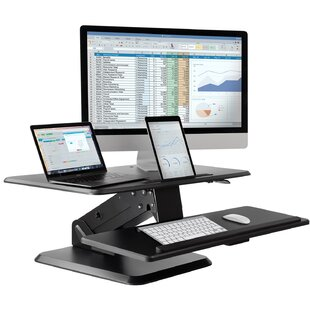 Clairlea Desktop Height Adjustable Standing Desk Converter by Symple Stuff Design
