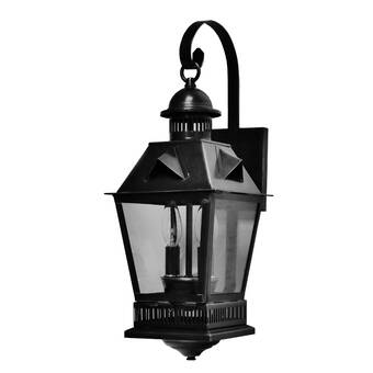Meyda Tiffany Duck Hunter Dog 1 Light Outdoor Wall Lantern Wayfair
