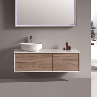 Compare Perillo 47 Wall-Mounted Single Bathroom Vanity Set ByGeorge Oliver