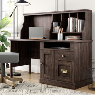 Saldivar Writing Desk with Hutch