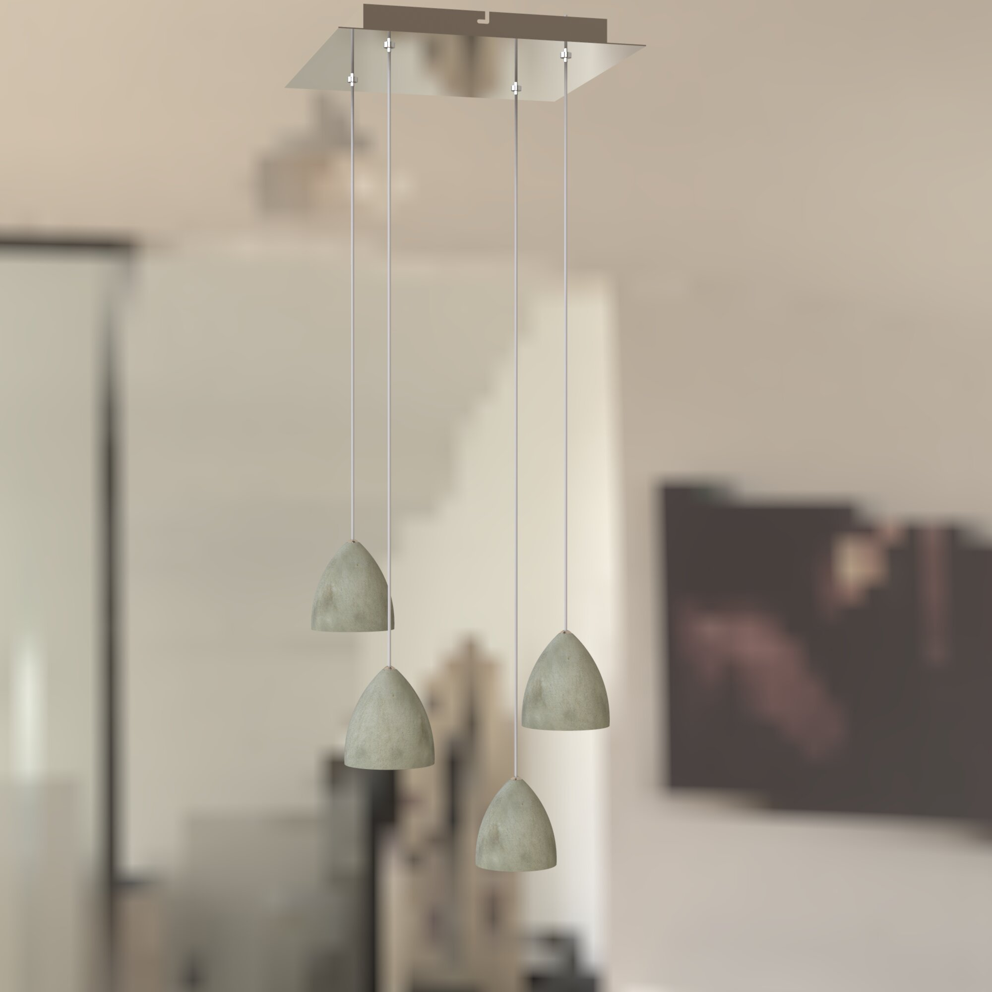 Orren Ellis Atherton 4 Light Cluster Bell Led Pendant Wayfair