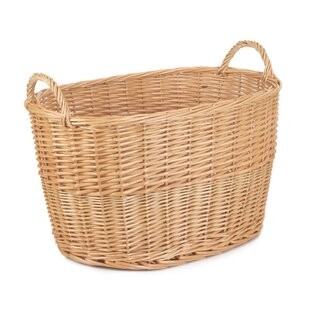 Unlined Large Oval Buff Wicker Basket By Brambly Cottage