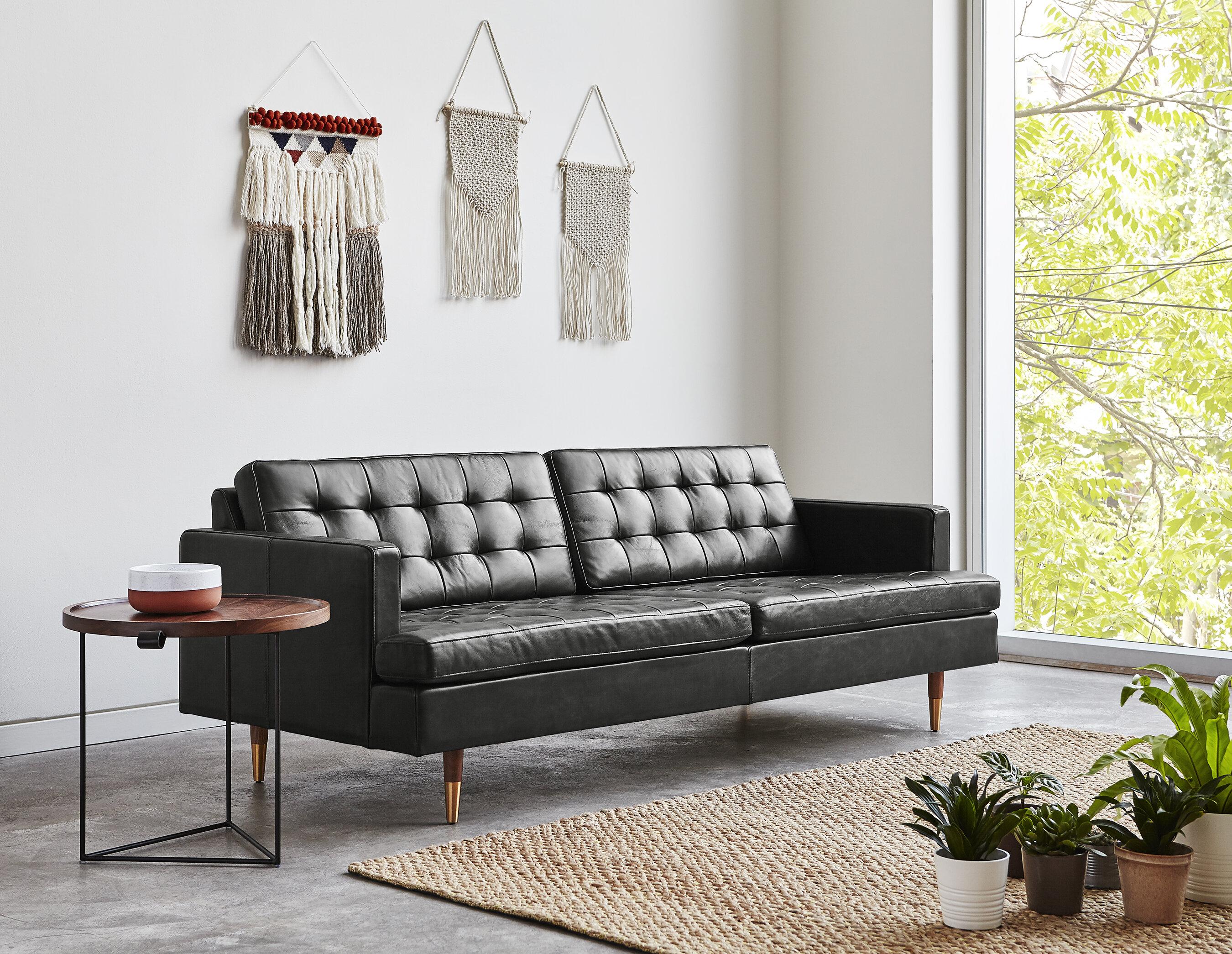 Awe Inspiring Archer Leather Sofa Home Interior And Landscaping Transignezvosmurscom