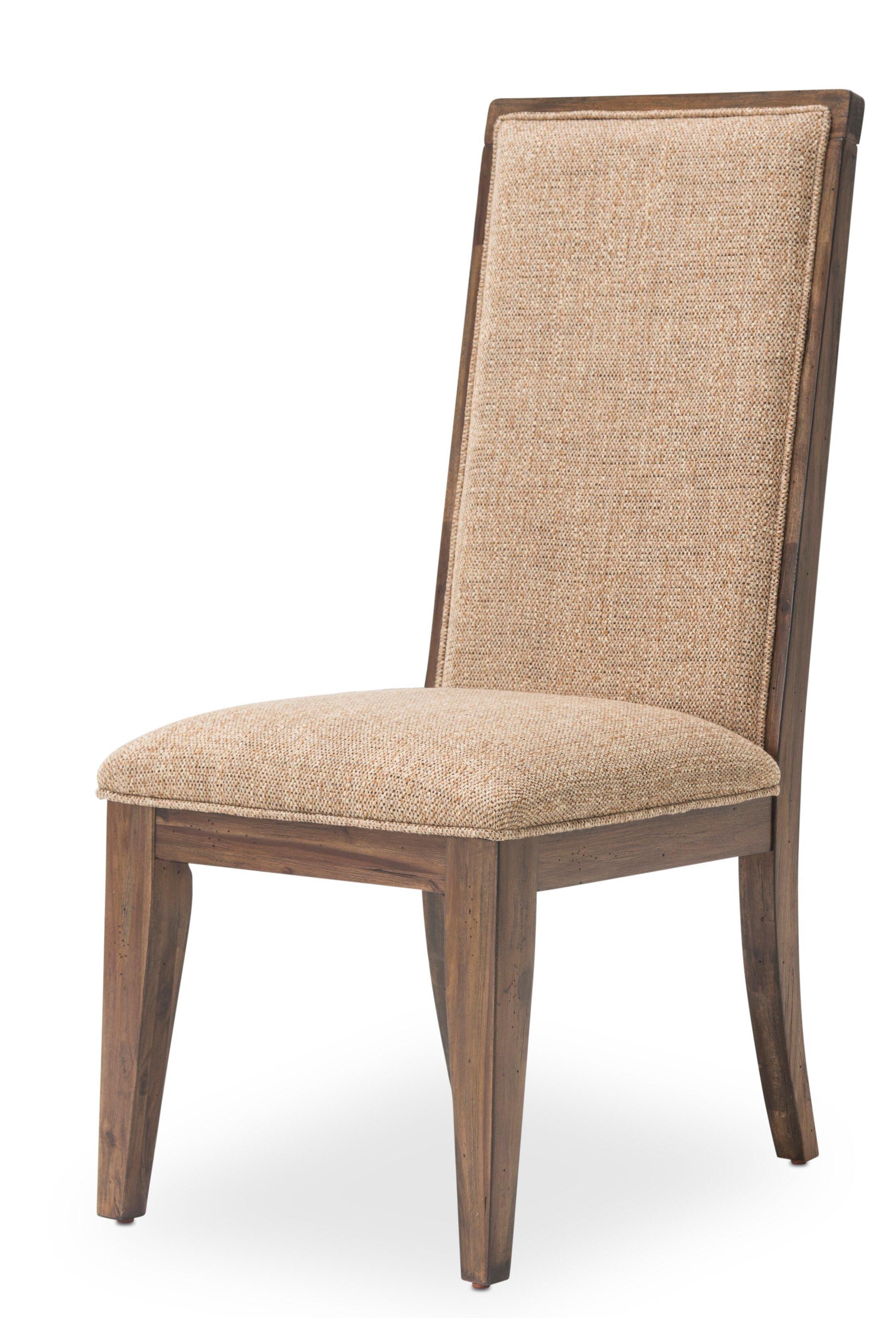 Michael Amini Kathy Ireland Home Designs Carrollton Upholstered Side Chair In Rustic Ranch Wayfair