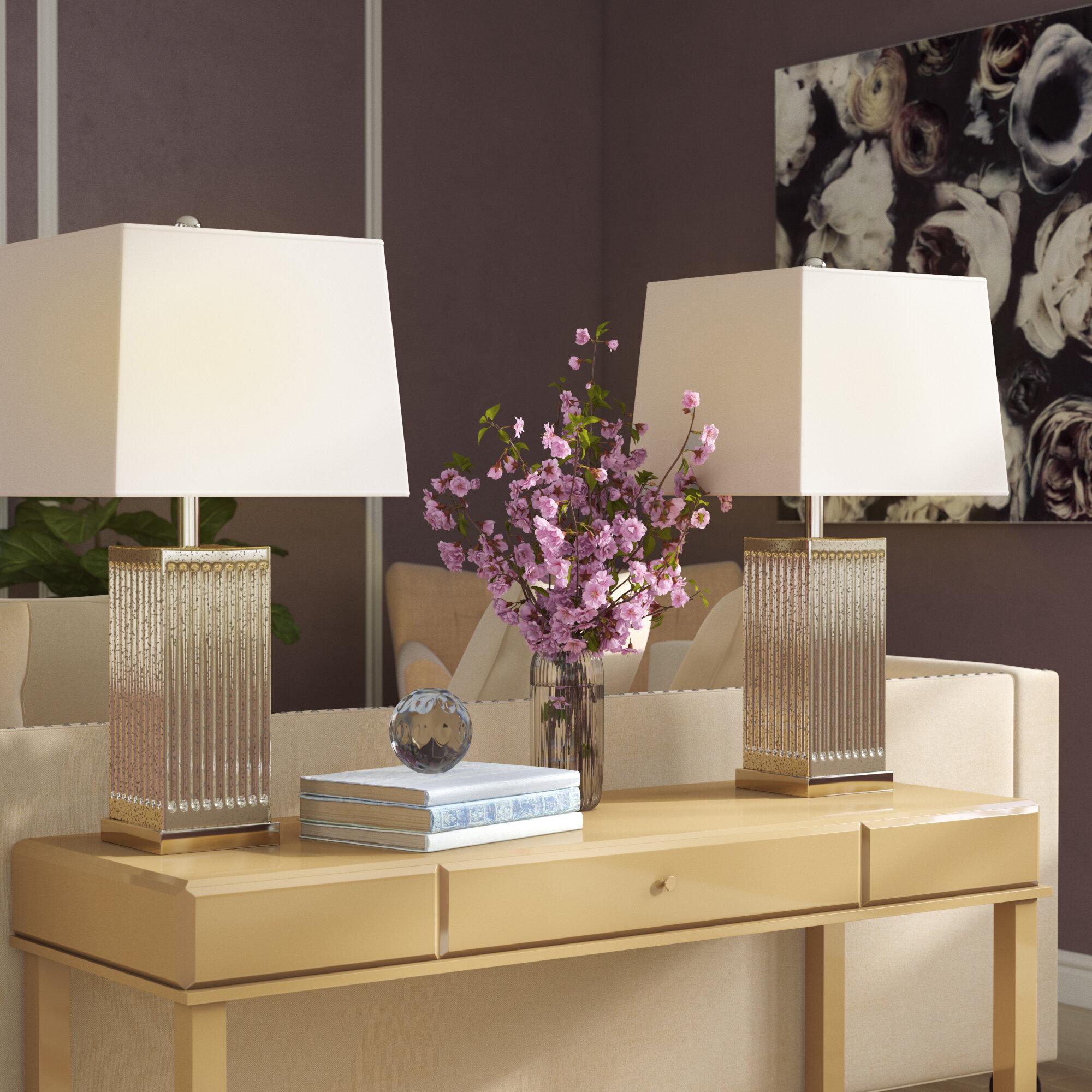 Willa Arlo Interiors Neha 27 Silver Table Lamp Set Reviews Wayfair