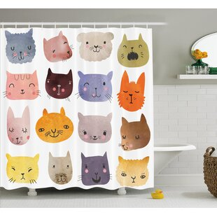 Affordable Lottie Colorful Humor Fun Cat Shower Curtain ByZoomie Kids
