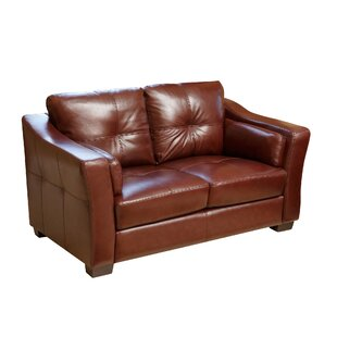 Darby Home Co Franklintown Leather Loveseat