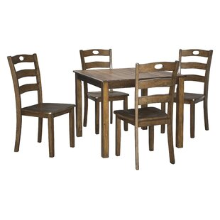 Hedberg 5 Piece Dining Set by Charlton Home Coupon