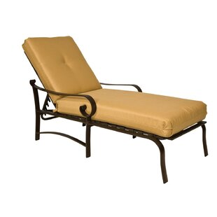 Belden Reclining Chaise Lounge with Cushion by Woodard