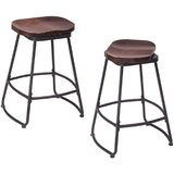 Meisner Swivel Solid Wood Counter Stool (Set of 2) by 17 Stories