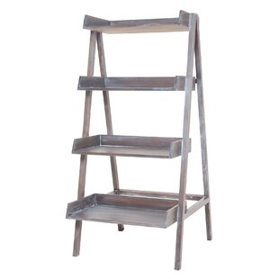 Gray Ladder Bookcase