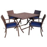 5 Piece Dining Set with Cushion
