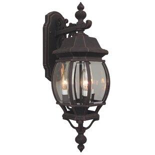 Charlton Home Oakhill 1-Light Metal Outdoor Wall lantern