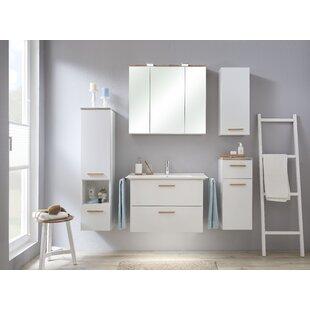 Burgas 4 Piece Bathroom Storage Furniture Set By Quickset
