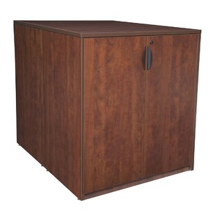 Latitude Run Linh Stand Up Back to Back Wood Storage Cabinet