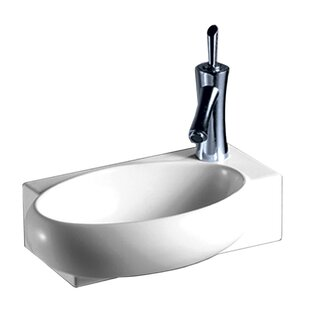 Isabella Vitreous China 17 Wall Mount Bathroom Sink ByWhitehaus Collection