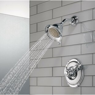 Read Reviews Victorian Pressure Balanced Diverter Shower Faucet Trim with Lever Handles and H2okinetic Technology ByDelta