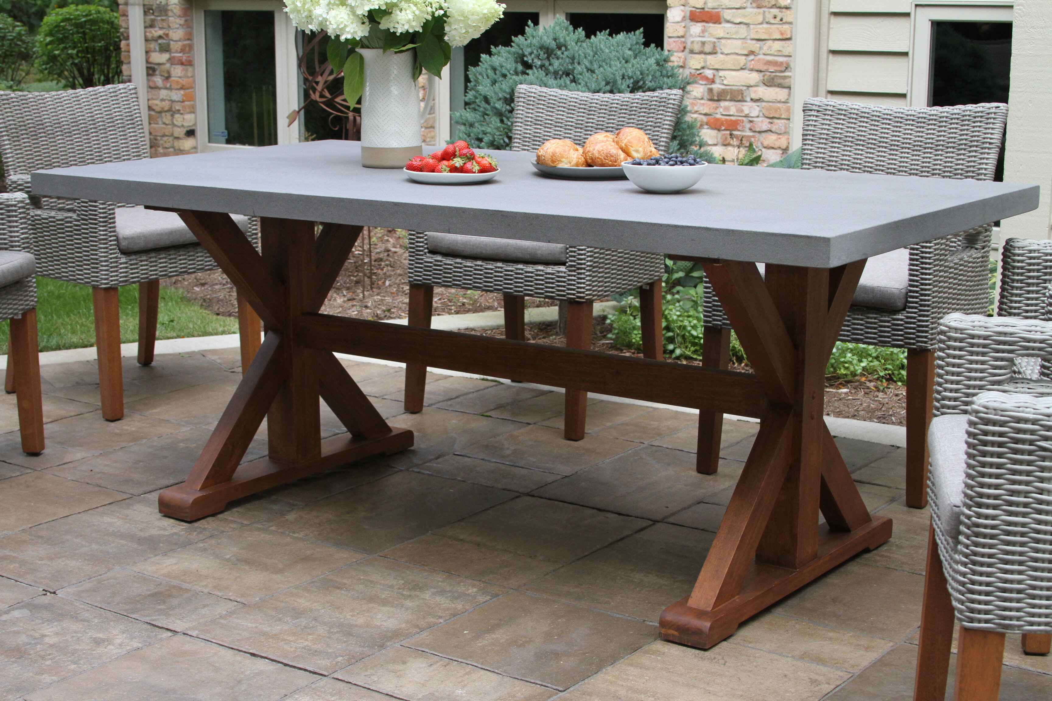 Concrete Wood Dining Table - Dining room ideas