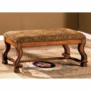 Astoria Grand Batchtown Traditional Wood Bedroom Bench