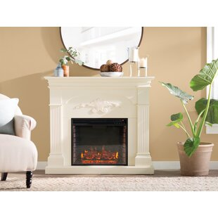 Maplewood Standard Electric Fireplace by Alcott Hill
