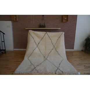 Find the perfect One-of-a-kind Cordia Beni Ourain Hand-Woven Wool Beige/Black Area Rug ByFoundry Select