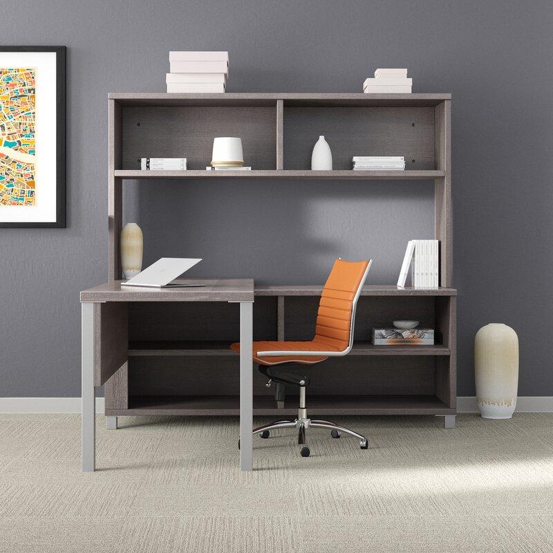 Upper Square Desandre Desk With Hutch 3 Piece Office Set Reviews Wayfair