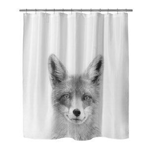 Winter Fox Single Shower Curtain