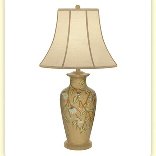 Trailing Vine with Flower Hand Painted Porcelain 32 Table Lamp