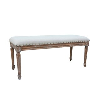 Ophelia & Co. Beom Rustic Country-Style Simmons Distressed Side Wood Bench