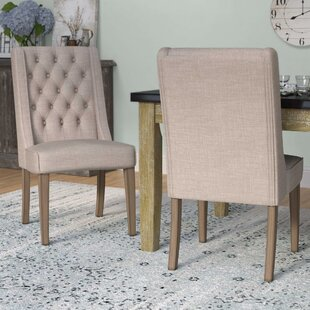 Eidelweiss Upholstered Dining Chair (Set of 2) Three Posts