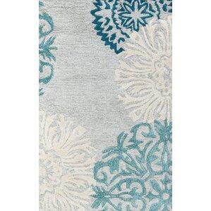monique grey u0026 silverblue wool handtufted area rug