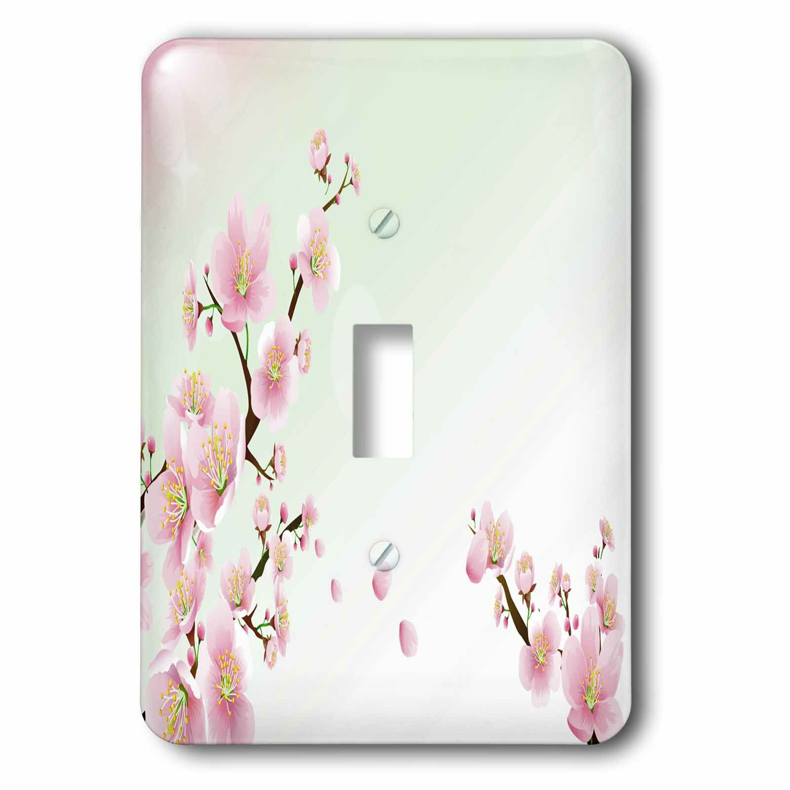 3drose Cherry Blossoms 1 Gang Toggle Light Switch Wall Plate Wayfair