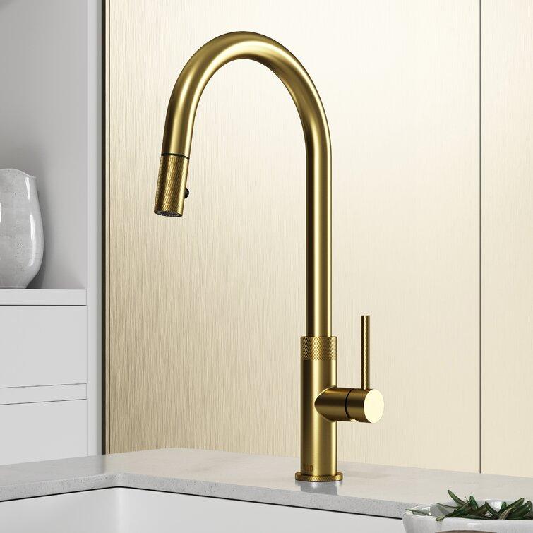 Vigo Bristol Pull Down Single Handle Kitchen Faucet Reviews Wayfair