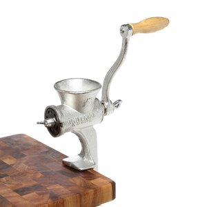 Commercial Size Food Chopper & Meat Grinder with Clamps (3 lbs. per minute)