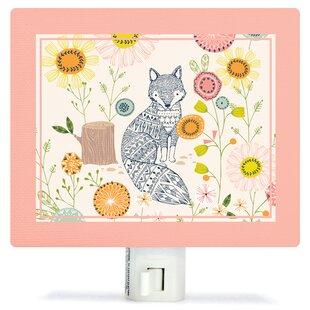 Oopsy Daisy Hiding Fox Canvas Night Light
