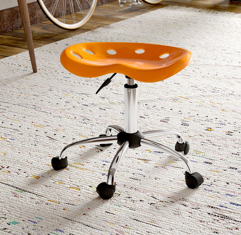 Ebern Designs Wilkinson Height Adjustable Lab Stool & Reviews | Wayfair