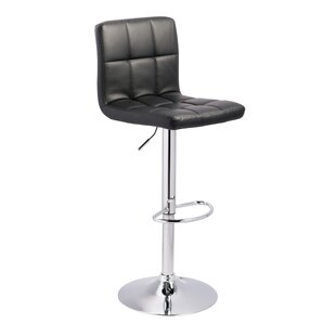 Gemini Adjustable Height Swivel Bar Stool (Set of 2) by Orren Ellis