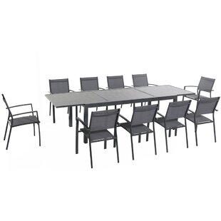 Latitude Run Liang 11 Piece Dining Set