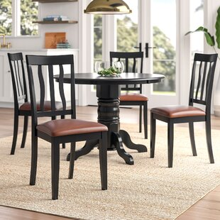 Langwater 5 Piece Wood Dining Set Beachcrest Home