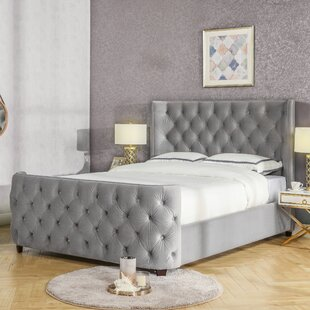 Qichen Kingsize (5') Upholstered Platform Bed By Rosalind Wheeler