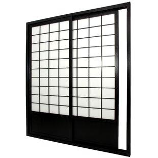 83\  x 73.5\  Single Sided Sliding Door Shoji Room Divider  sc 1 st  Wayfair & Oriental Sliding Shoji Door | Wayfair
