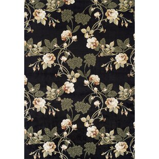 Looking for Woburn Lily Synthetic Black Area Rug ByRed Barrel Studio