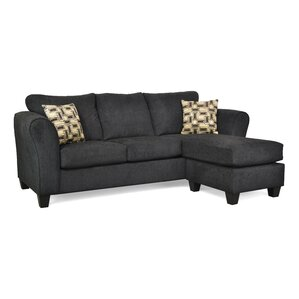 Dominey Reversible Sectional  sc 1 st  Wayfair : black sectional with chaise - Sectionals, Sofas & Couches