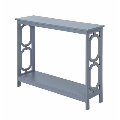 Ardenvor Console Table Table Top Color: Gray, Table Base Color: Gray by Beachcrest Home