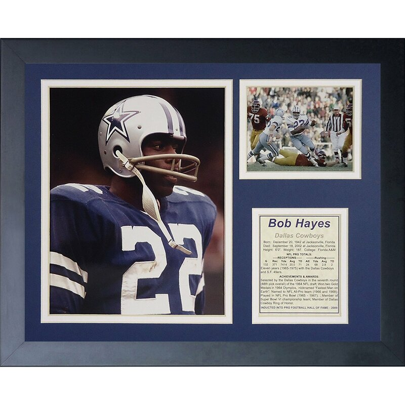 the best attitude 01c63 a673d Bob Hayes Framed Memorabilia