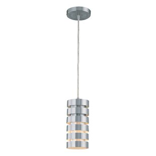 Ebern Designs Collins Metal 1-Light Cylinder Pendant
