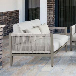 South Sea Rattan Rhiannon Loveseat with Sunbrella Cushions