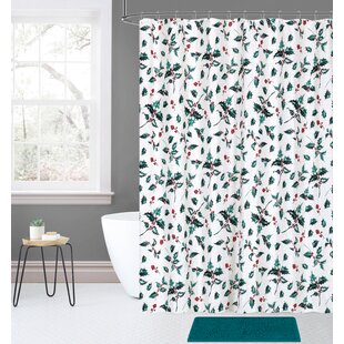 Look for Overturf 14 Piece Joy Noel Holiday Tradition Holly Plaid Shower Curtain Set ByThe Holiday Aisle